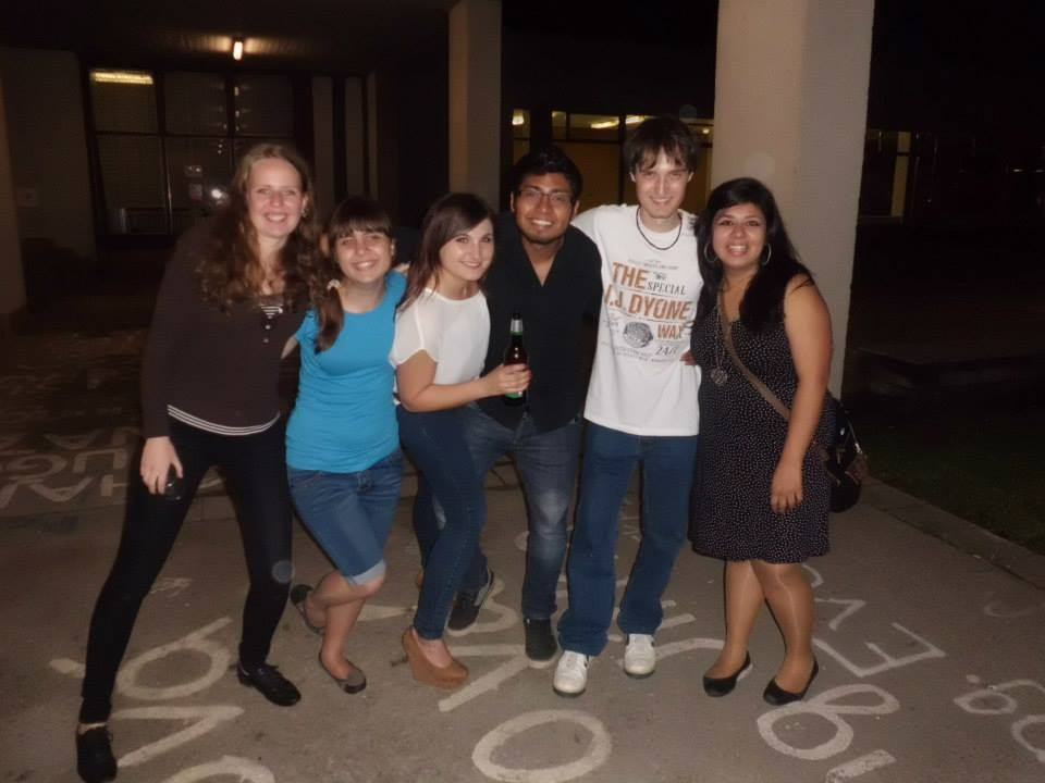 With my friends from Mexico, Russia and Poland