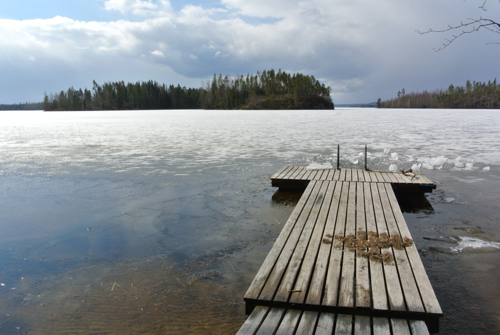 Frozen lake (a bit damaged after our ice swimming :-D )